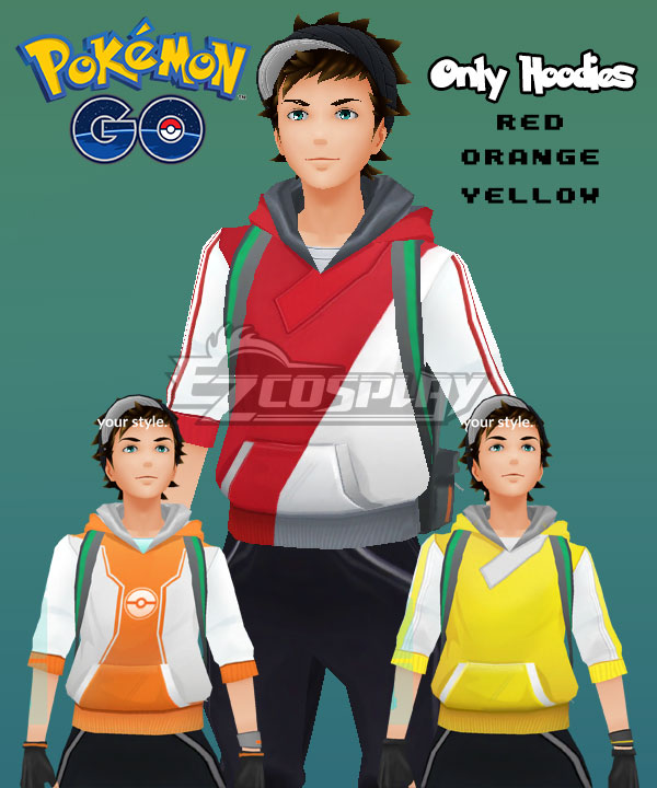 Pok��mon GO Pokemon Pocket Monster Trainer Male Cosplay Costume(Only Hoodies) None