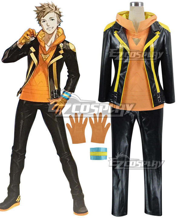 Pok��mon GO Pokemon Pocket Monster Spark Team Instinct Cosplay Costume (With hoodie) None