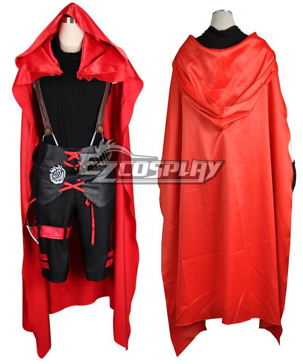 RWBY Red Ruby Rose Male Cosplay Costume