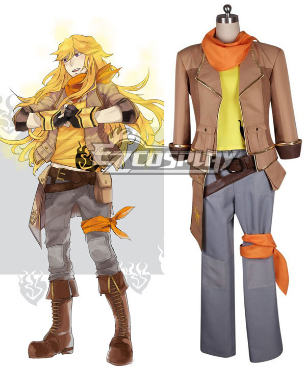 RWBY/Yang Xiao Long Male Version Cosplay Costume
