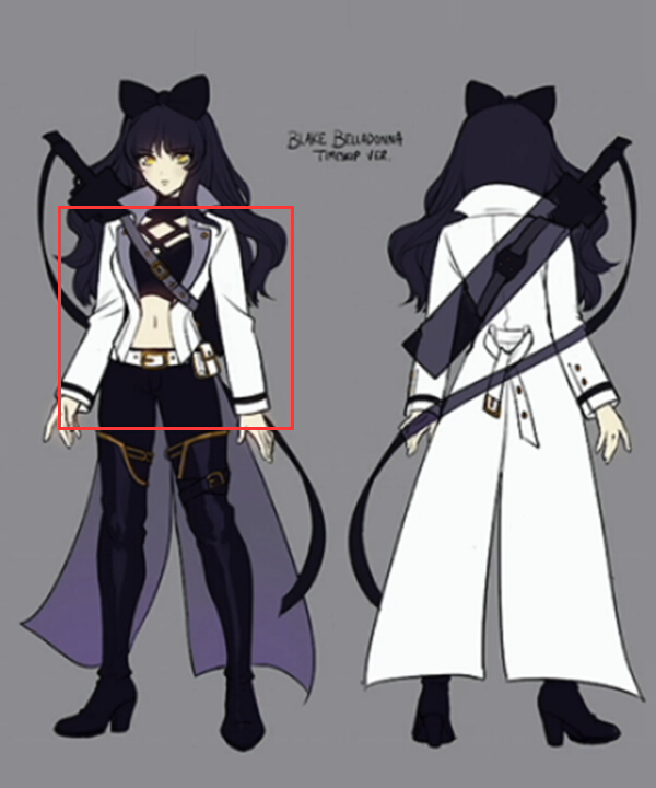 Anime Costumes ERW0094 RWBY Volume 4 Blake Belladonna Cosplay Costume(Only the Coat)