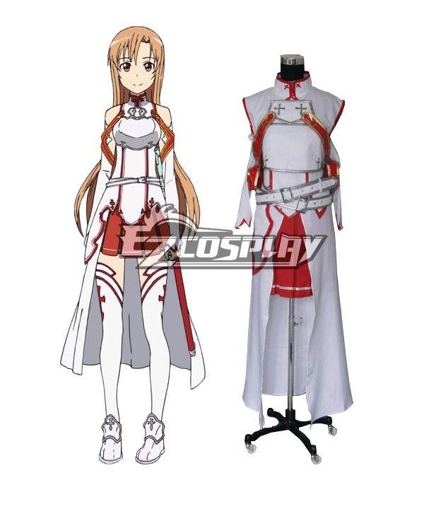 Sword Art Online SAO Sodo Ato Onrain Knights of the Blood Lambent Light Yuuki Asuna Yuki Asuna Asuna Yuki Cosplay Costume None