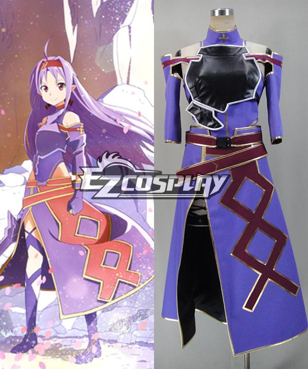 Sword Art Online ALfheim Online Konno Yuuki Cosplay Costume - C Edition