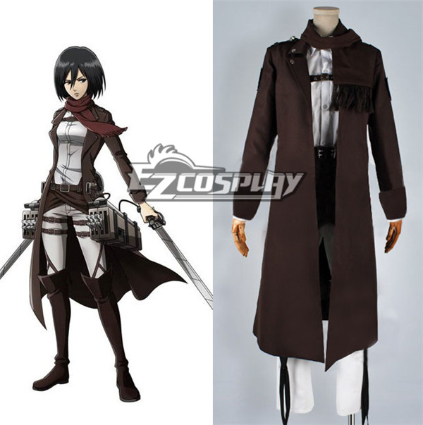 Attack on Titan (Shingeki no Kyojin) Special Night Fighting Soldiers Maneuver Mikasa Ackerman Cosplay Costume None