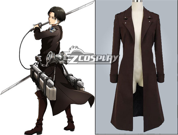 Attack on Titan (Shingeki no Kyojin)  Survey Corp Eren & Levi & Mikasa Wings of Counterattack Online Cosplay Costume Coat(no badge) None