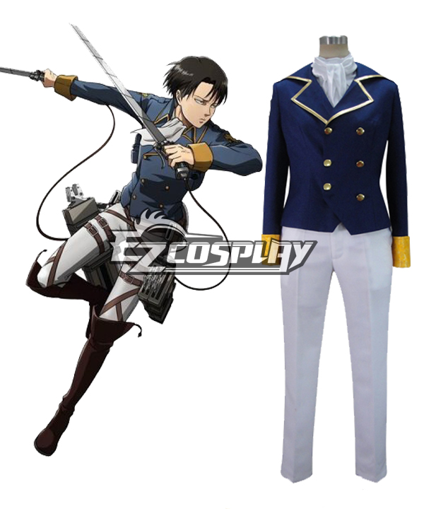 Attack on Titan Wings of Counterattack Online Levi Cosplay Costume -- Deluxe Ver