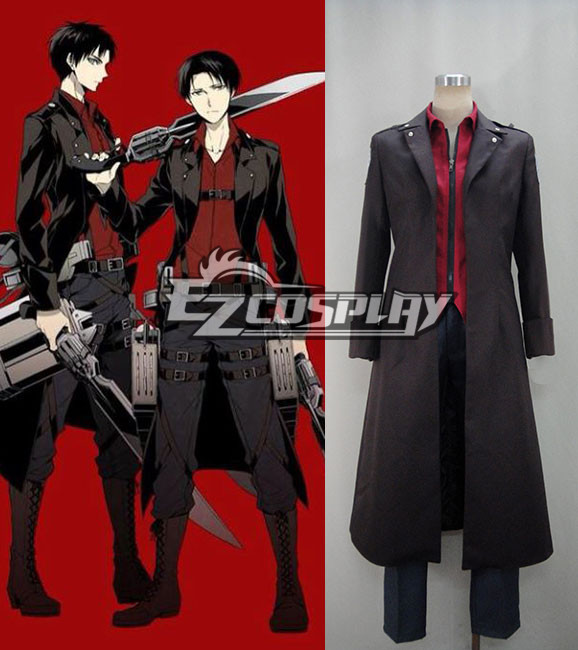 Attack on Titan (Shingeki no Kyojin) Survey Corp Eren & Levi & Mikasa Wings of Counterattack Online Cosplay Costume Costume None