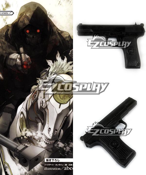 Sword Art Online II GGO Gun Gale Online Shinkawa Shouichi's Creation Death Gun Desu Gan Sterben Signature Gun Cosplay Prop