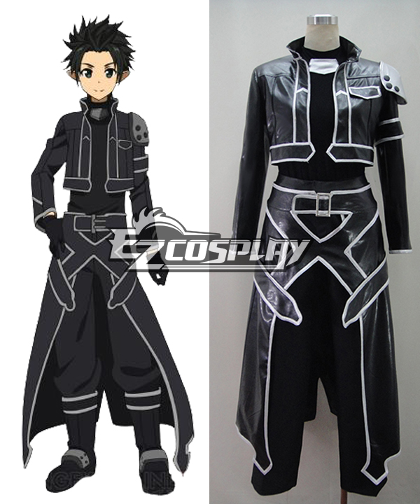 Sword Art Online ALfheim Online Kirito Leather Cosplay Costume