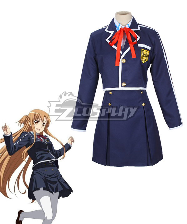 Sword Art Online ALfheim Online SAO ALO Yuuki Asuna School Uniform Cosplay Costume None