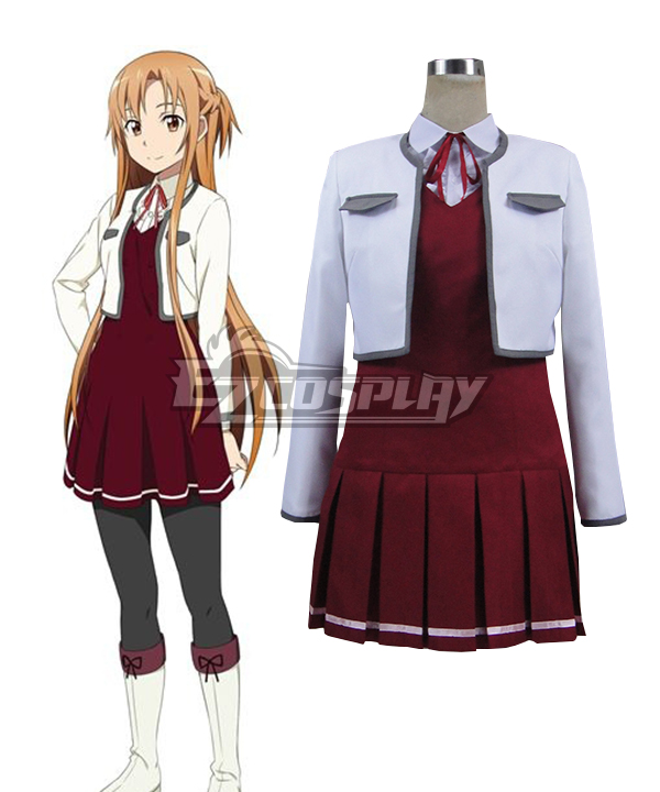 Sword Art Online Hollow Fragment Yuuki Asuna  Casual Cloth Cosplay Costume None