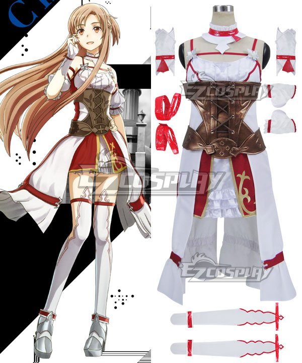 Sword Art Online Hollow Realization SAO Yuuki Asuna Yuki Asuna Game Cosplay Costume None