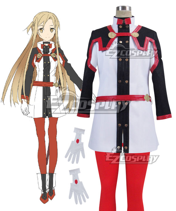 Sword Art Online Ordinal Scale Yuuki Asuna Yuki Asuna Movie Cosplay Costume None