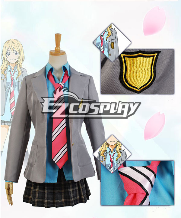 Your Lie in April Kaori Miyazono Uniform Dress Suit Cosplay Costume None