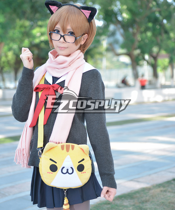 Ascii Emoticon Cosplay Chicken Nugget Cute Clever Cat(?`�?�??) Anime Plush Shoulder Messenger Bag Satchel Yellow