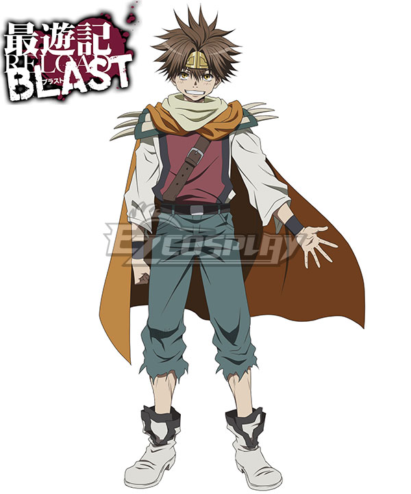 Anime Costumes ESRB002 Saiyuki Reload Blast Son Goku Cosplay Costume