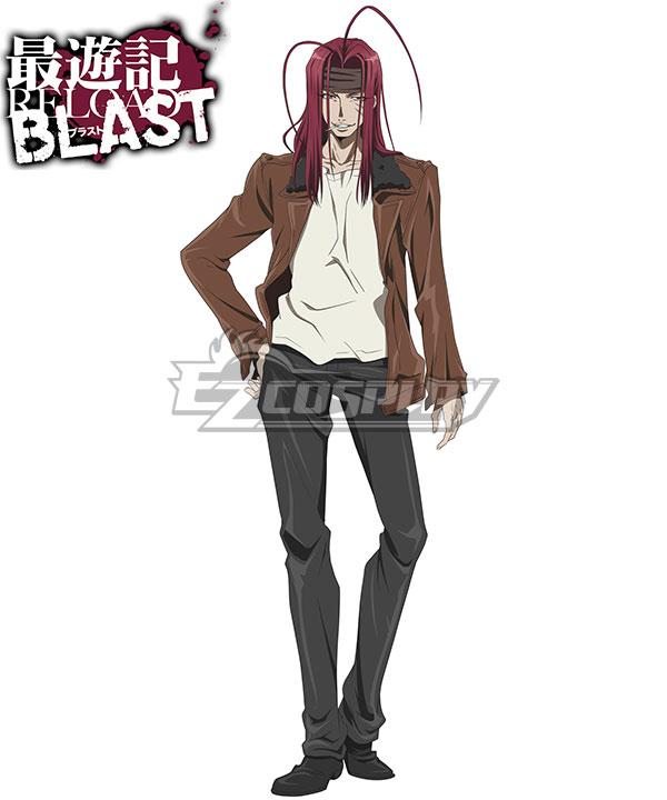 Anime Costumes ESRB003 Saiyuki Reload Blast Sha Gojyo Cosplay Costume