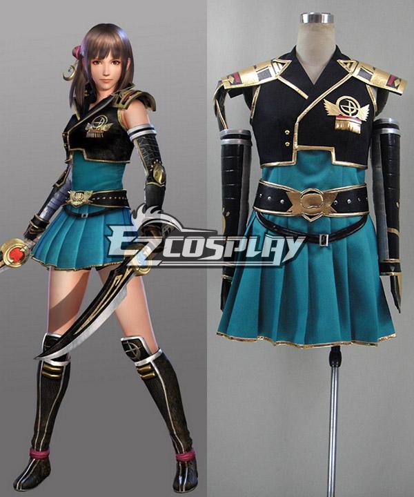 Samurai Warriors Chronicles 3 Sengoku Musou Female Protagonist Cosplay Costume