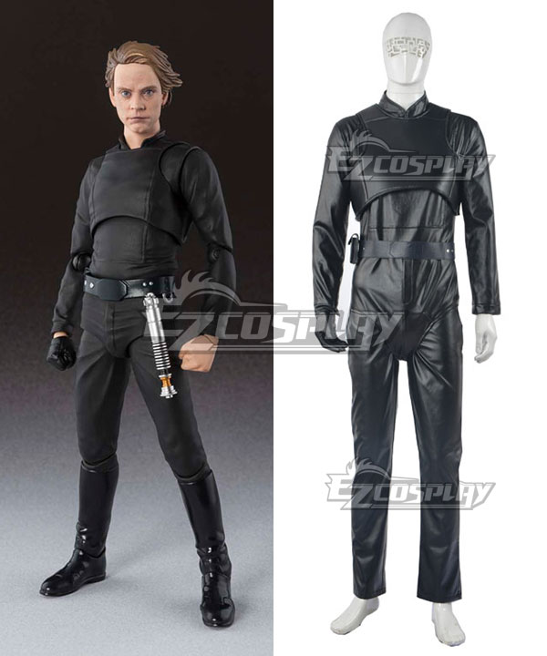 Star Wars Luke Skywalker Black Cosplay Costume None