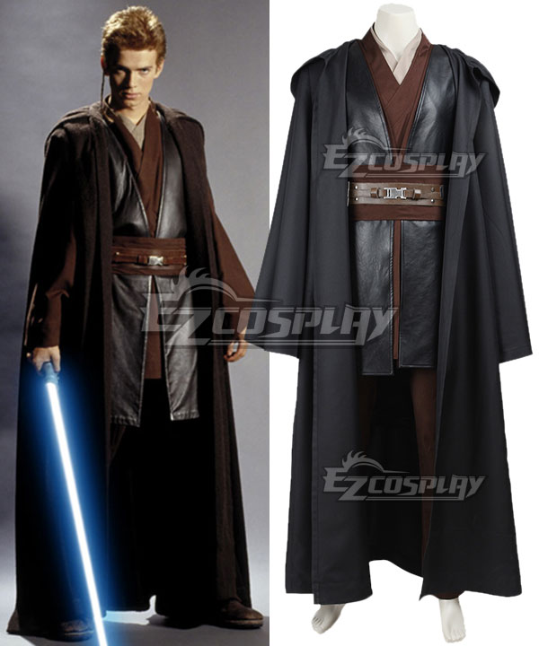 Star Wars Episode II Attack of the Clones Anakin Skywalker Cosplay Costume None