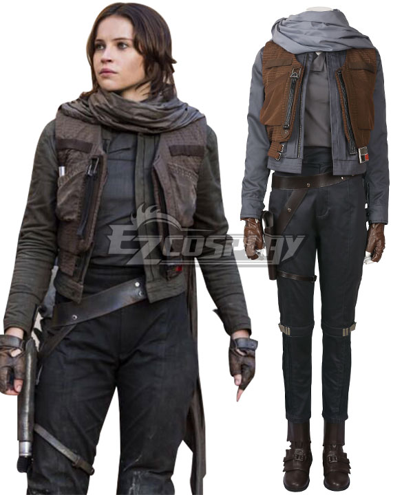 Rogue One: A Star Wars Story Jyn Erso Cosplay Costume - Including Boots None