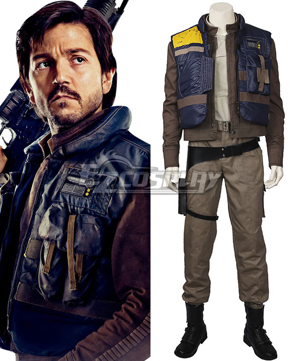 Rogue One: A Star Wars Story Captain Cassian Andor Cosplay Costume - Including Boots None