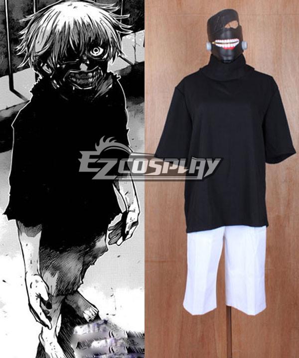 Tokyo Ghoul Ken Kaneki Cosplay Costume(Mask buy Separately ) None