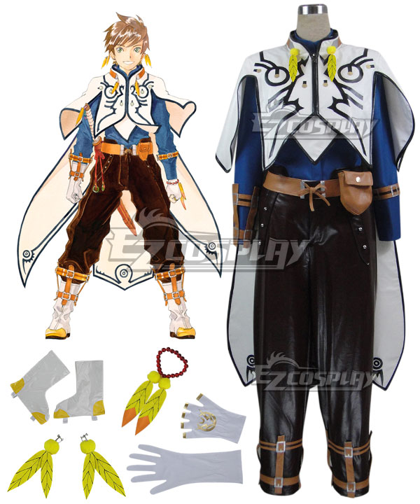 Anime Costumes ETOZ006 Tales of Zestiria the X Sorey Cosplay Costume(Artificial Leather)