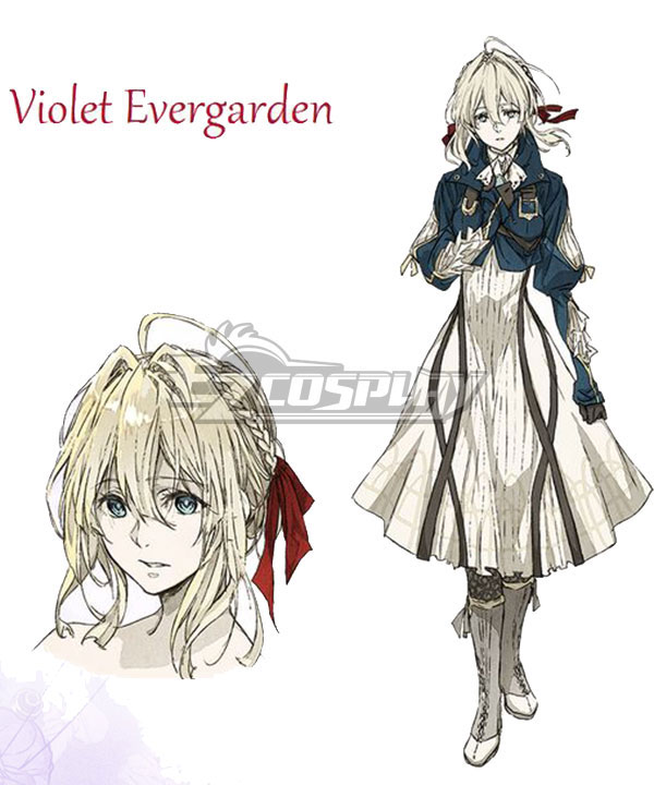 Anime Costumes EVEV001 Violet Evergarden Violet Evergarden Cosplay Costume