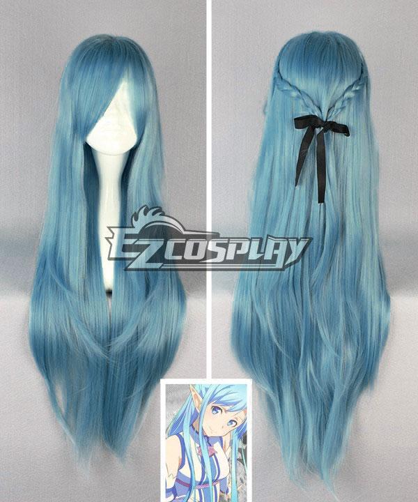 Sword Art Online ALfheim Online Yuuki Asuna Blue Cosplay Wig