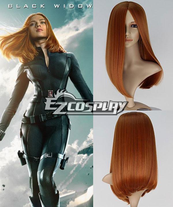 Image of Captain America 2 The Winter Soldier Natasha Romanoff Black Widow Long Straight Auburn Cosplay Wig