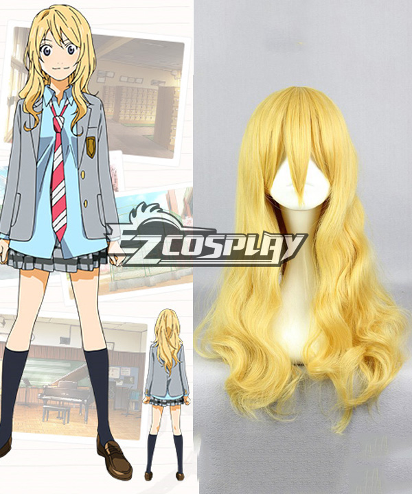 Your Lie in April Kaori Miyazono Cosplay Wig None