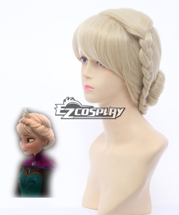Frozen Snow Queen Elsa Coronation Style Disney Cosplay Wig None