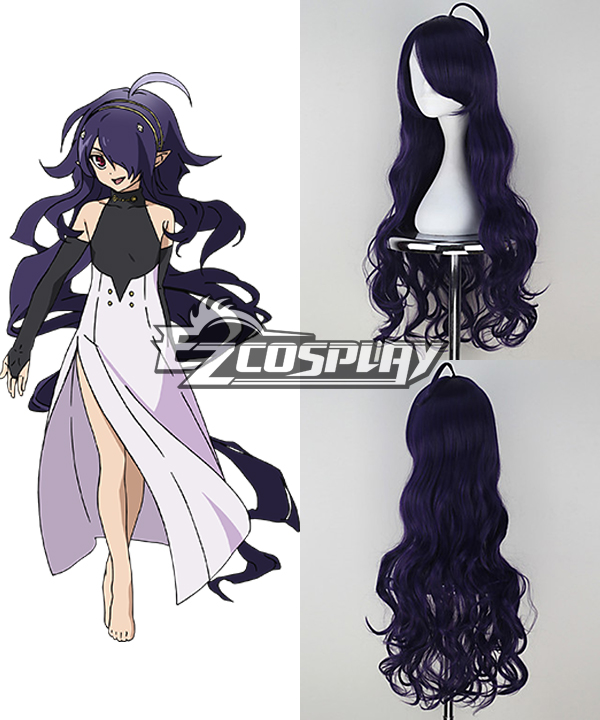 Seraph of the End Asuramaru Long Curly Dark Purple Color Cosplay Wig