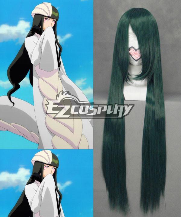 Bleach Cyan Sung-Sun Deep Smokey Green Cosplay Wig