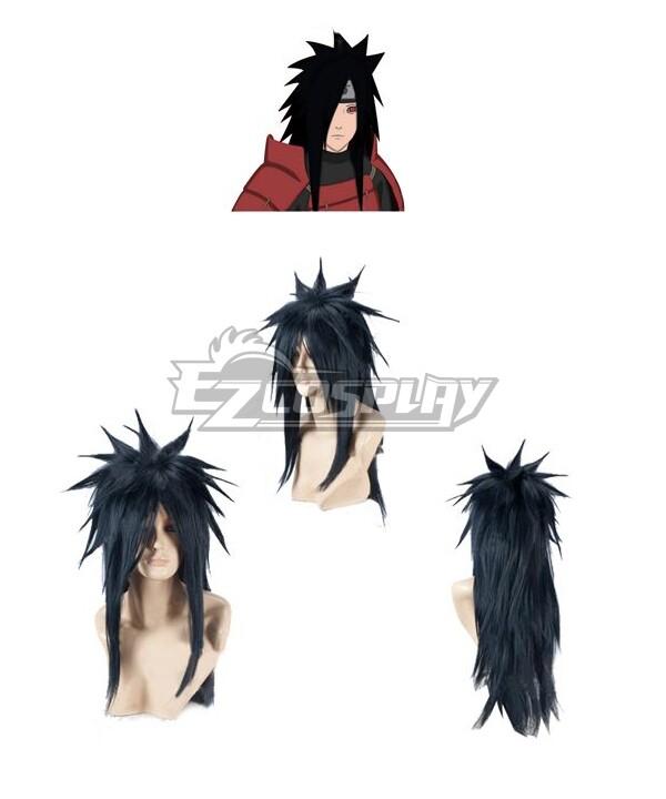 Naruto Shippuuden Uchiha Madara Black Cosplay Wig