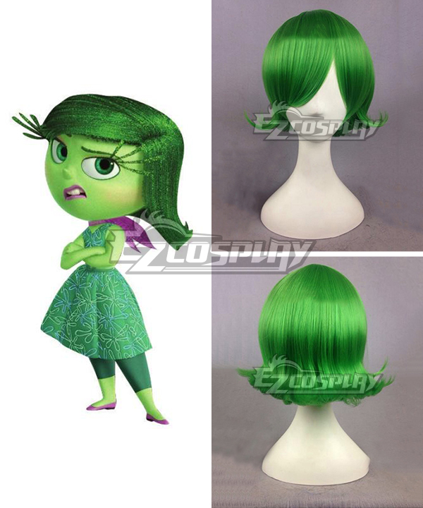 Inside Out Disgust Green Cosplay Wig EWG0615