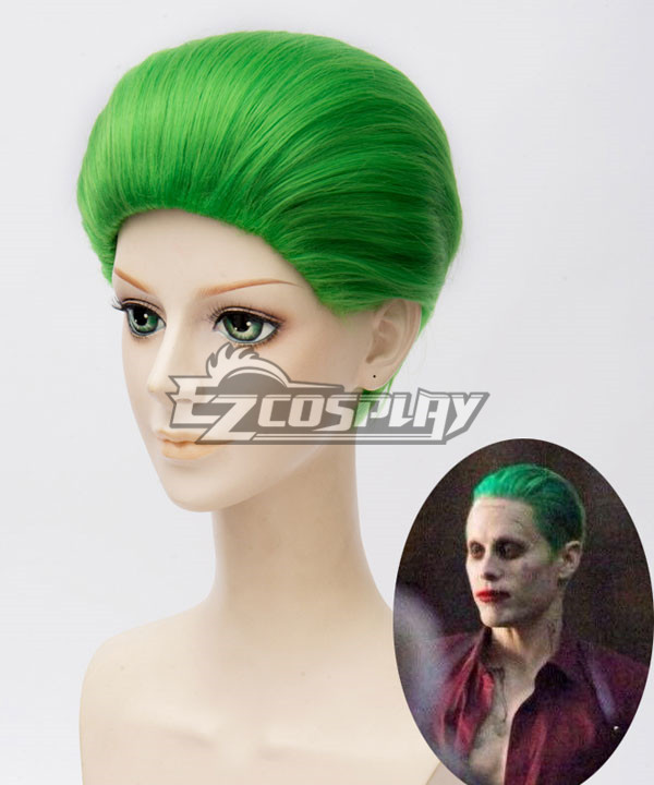 DC Detective Comics Batman Suicide Squad Task Force X Joker 2016 Movie Green Cosplay Wig None