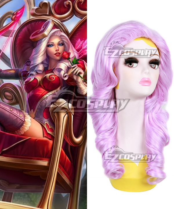 League of Legends Heartseeker Ashe The Frost Archer Pink Cosplay Wig