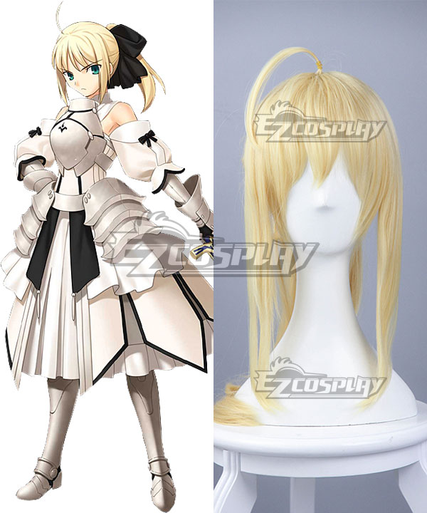 Fate Stay Night Fate Grand Order Saber Lily Altria Pendragon King Arthur Yellow Cosplay Wig None