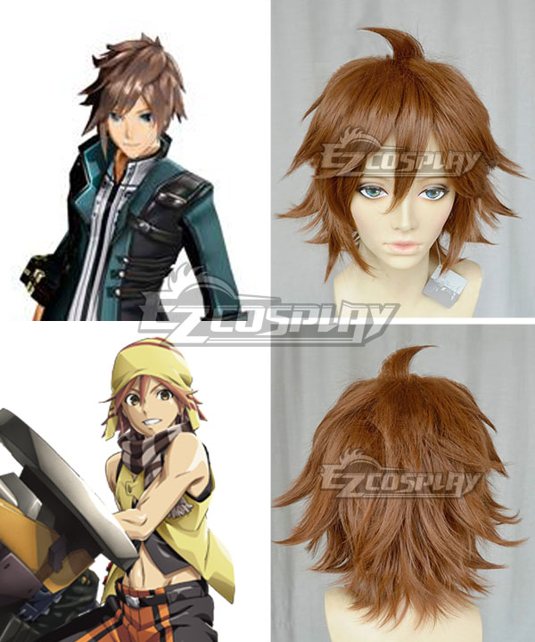 God Eater 2 Male Burst Appearance Kouta Fujiki Brown Cosplay Wig
