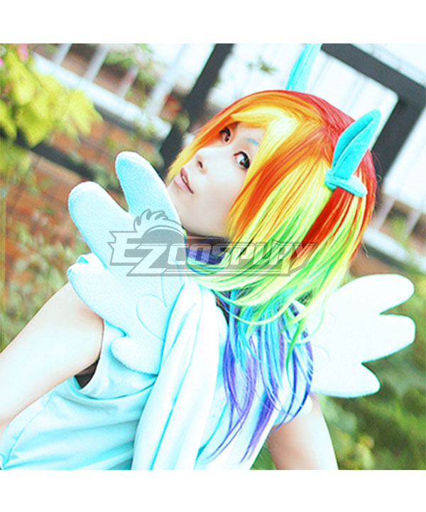 My Little Pony Friendship is Magic Rainbow Dash Colorful Cosplay Wig None