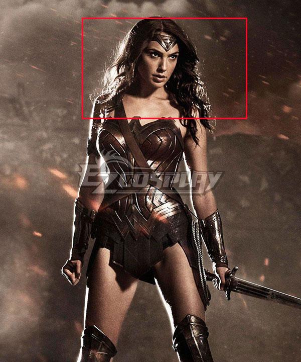 DC Batman V Superman Dawn Of Justice Wonder Woman Diana Dark Brown Cosplay Wig