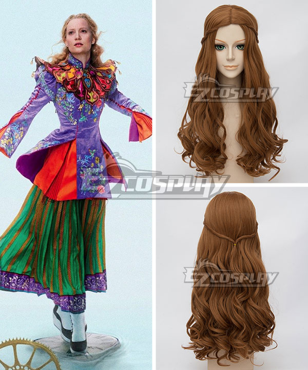 EWG0877 Alice in Wonderland 2 Alice Through the Looking Glass Alice Kingsleigh Brown Cosplay Wig