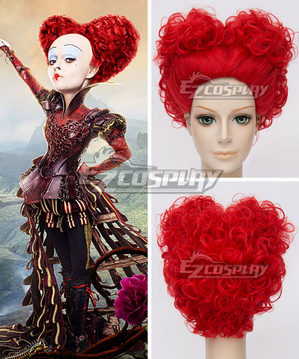 EWG0878 Alice in Wonderland 2 Alice Through the Looking Glass The Red Queen Red Cosplay Wig