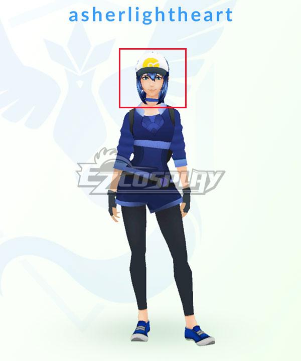 EWG0894 Pokémon GO Pokemon Pocket Monster Trainer Female Blue Cosplay Wig