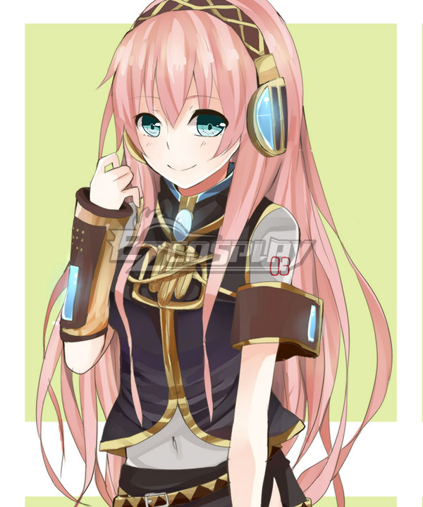 Anime Costumes EWG0895 Vocaloid Megurine Luka Long Pink Cosplay Wig