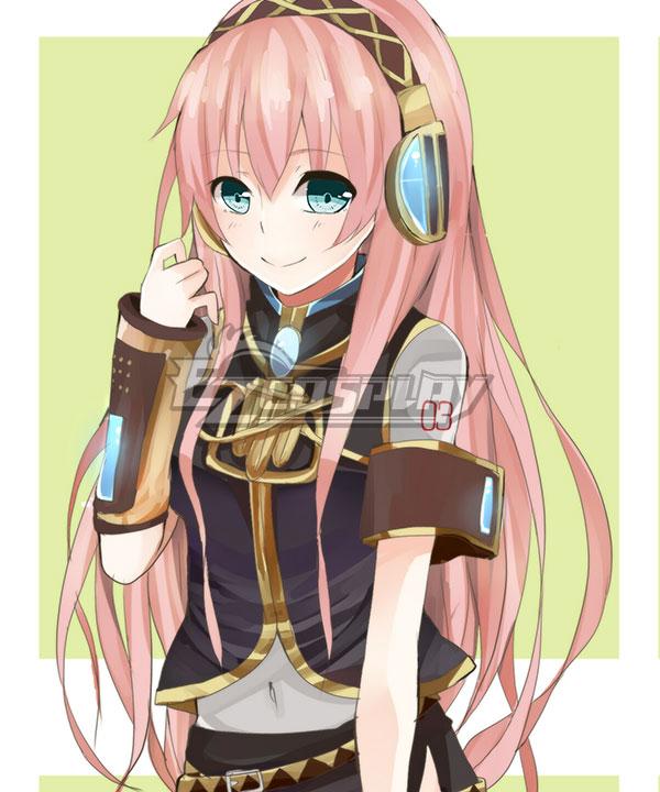 EWG0895 Vocaloid Megurine Luka Long Pink Cosplay Wig