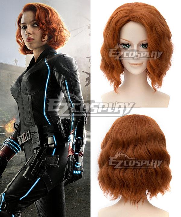 Marvel Avengers Age of Ultron Black Widow Natasha Romanoff Brown Cosplay Wig None