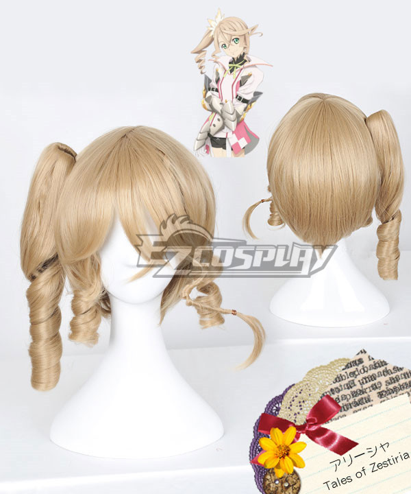 Anime Costumes EWG0931 Tales of Zestiria the X Alisha Gold Cosplay Wig